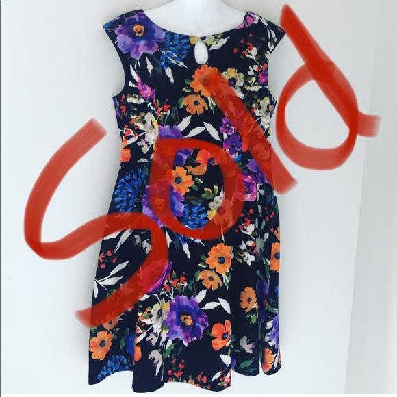 Cleo petite Cap sleeve neckline fit floral dress